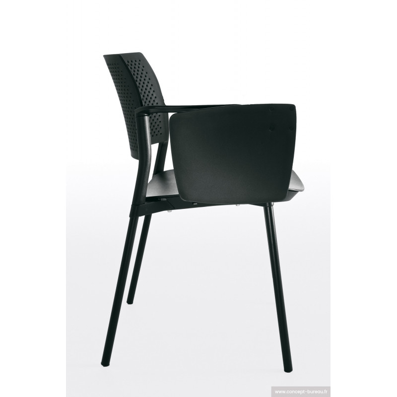 chaise avec tablette critoire myos. Black Bedroom Furniture Sets. Home Design Ideas