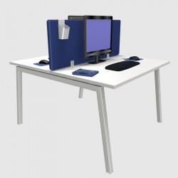 Cloison phonique bureau bleu