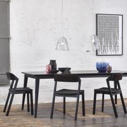 chaises pour restaurant noir