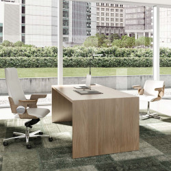 Bureau droit de direction en bois design