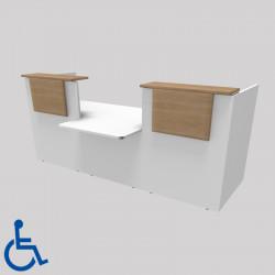 Banque d'accueil pour personne à mobilité réduite
