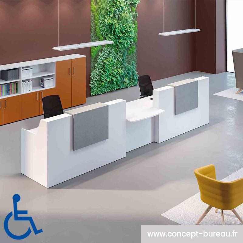 BANQUE D'ACCUEIL design avec PMR GRIS