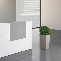 Comptoir d'accueil haut gris
