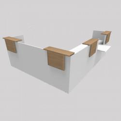 Comptoir d'accueil en bois