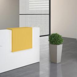 Comptoir haut d'accueil coloris jaune