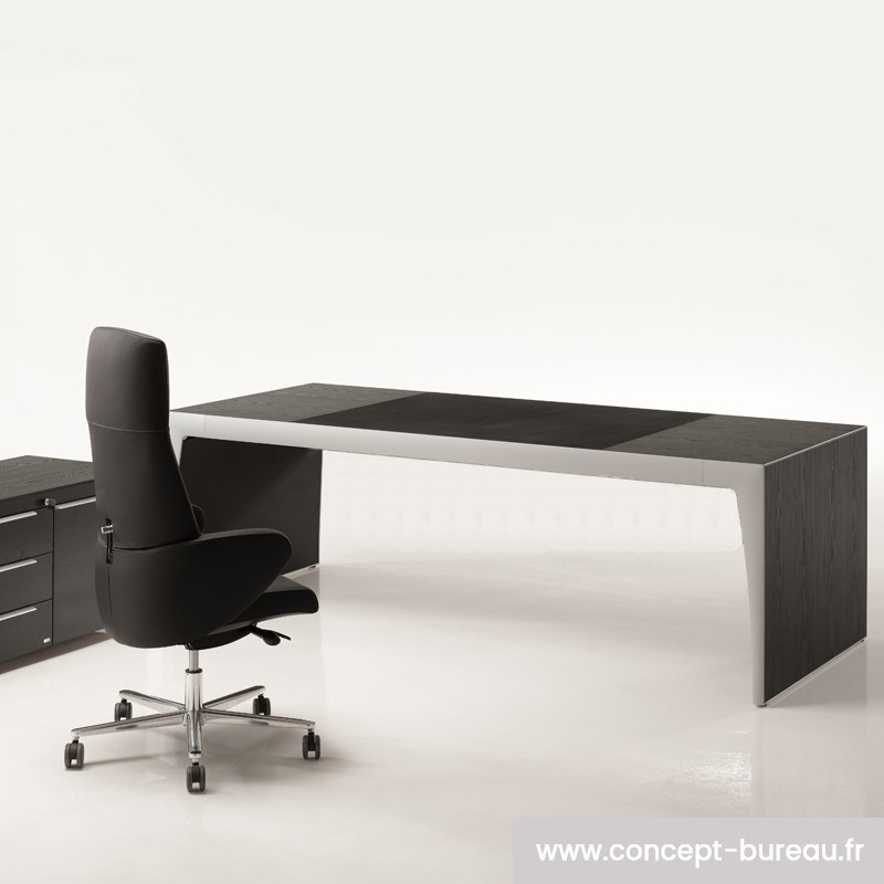 bureau design contemporain noir