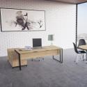 Bureau en bois avec retour design
