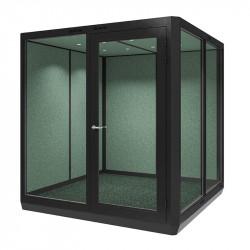 Cabine de bureau fixe ou mobile pour open space
