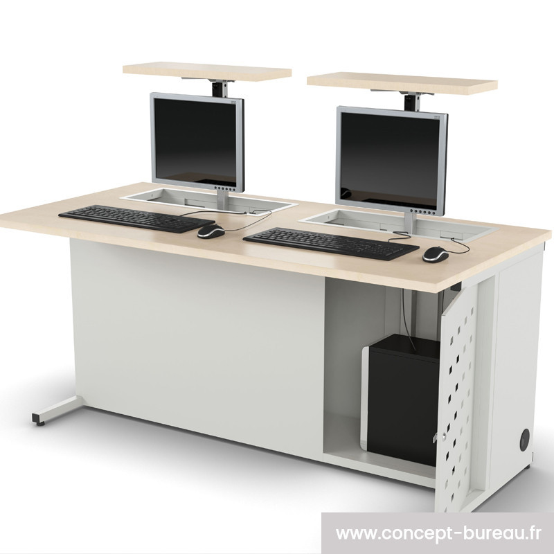 Bureau informatique pour 2 personnes