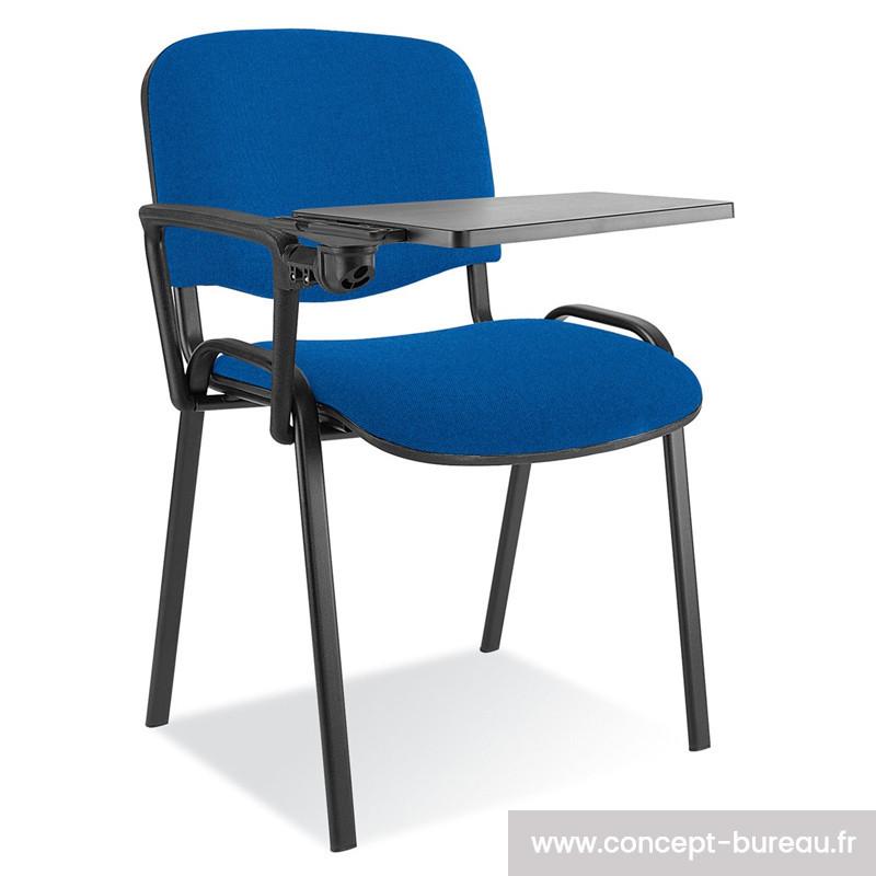 Chaise avec tablette écritoire rabattable