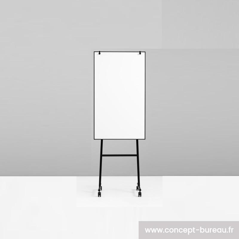 Chevalet de conférence mobile avec cadre noir