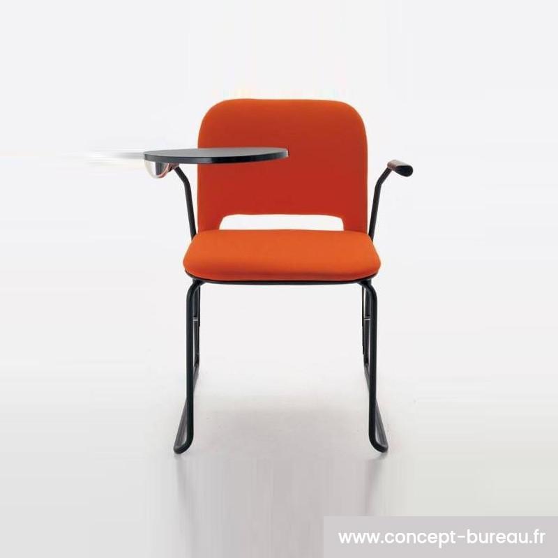 Chaise avec tablette écritoire empilable par 6