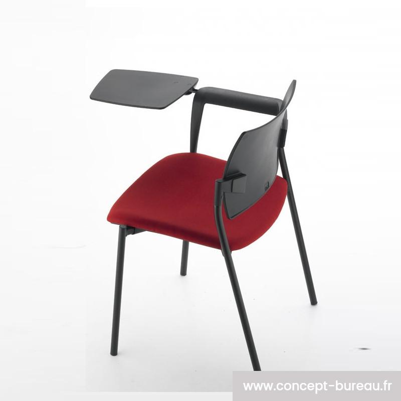 Chaise à tablette écritoire AMELY