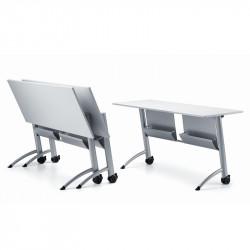 Table de formation à roulettes avec plateau rabattable