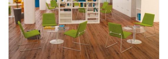 Tables basses en verre, mobilier d'accueil - Concept Bureau