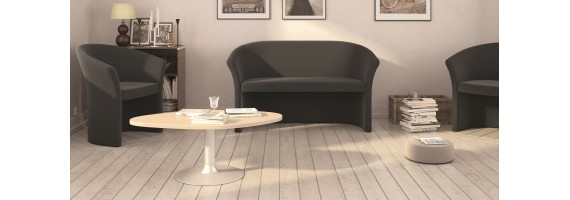 Tables basses en bois, mobilier d'accueil - Concept Bureau