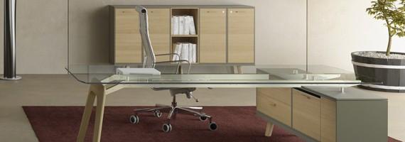 Bureau direction en verre, bureau design en verre