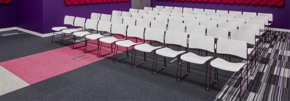 Chaise de Conférence, Empilable, Non feu, Accrochable