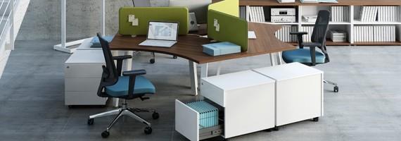 Bureaux modulaires pour 3 personnes, bureaux PEFC
