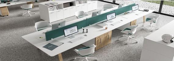 Bureaux 6 personnes, bureau pour open space NF environnement
