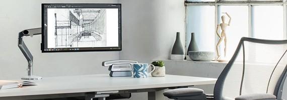 Supports écran plat,  ergonomie au travail