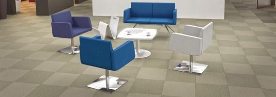 Fauteuil d'accueil confortable, mobilier d'accueil