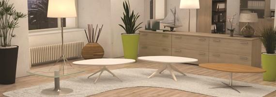 Tables basses d'accueil, mobilier d'accueil