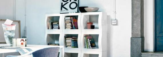 Bibliothèques de rangement: le classement pour tous
