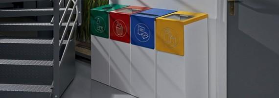 Poubelles de bureau tri s lectif recyclage cologie - Poubelle de bureau tri selectif ...