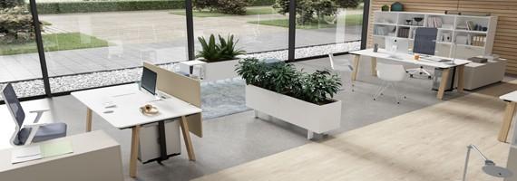 Bureau pour open space, aménagement facile des espaces