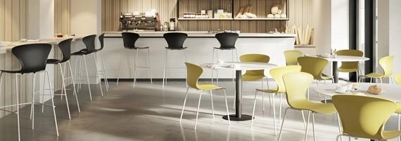 Chaises de collectivité: mobilier design et chaises empilables