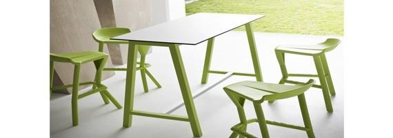 Table haute mange-debout, tables pour cafétéria et CHR