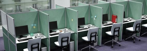 Bureaux pour centre d'appels, aménagement des bureaux