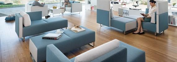 Poufs et banquettes: mobilier design, détente au travail
