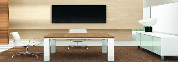 Tables de réunion en bois, mobilier pour la réunion