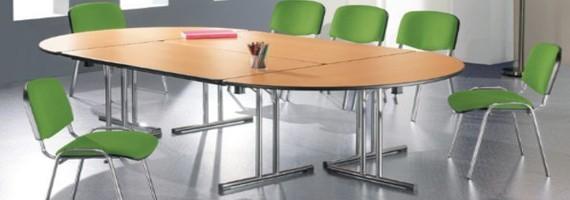 Tables de réunion pliantes, optimisation d'espaces