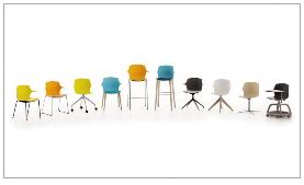 Tabouret, chaise et tablette écritoire Formax