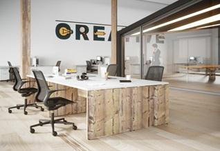 Bureau 4 personnes design