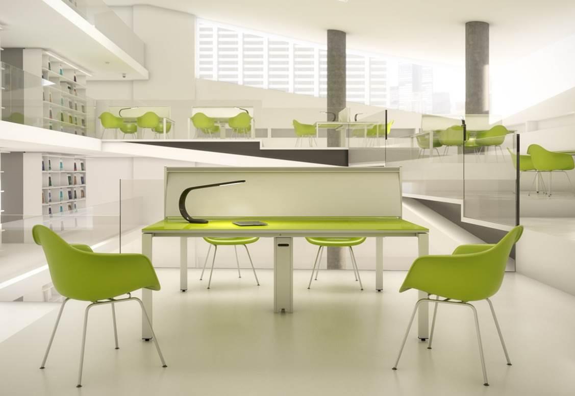Des modèles innovants au salon du mobilier de bureau à milan