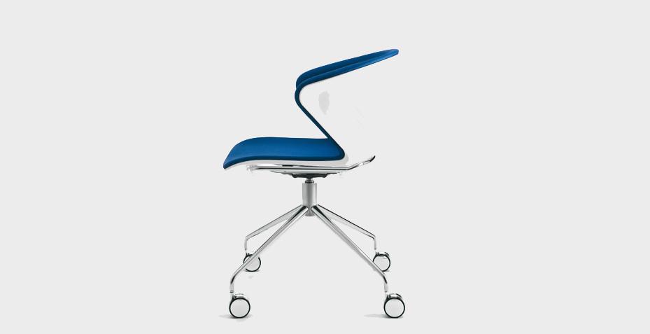 Chaise polypro sur roulettes