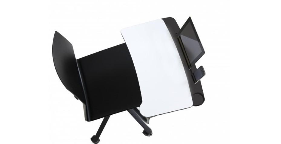 Toujours à la pointe de la dernière technologie, découvrez la chaise tabi avec tablette écritoire