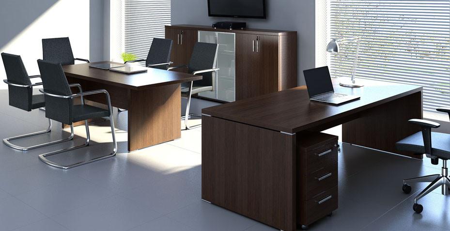 Bureau de direction et table de réunion