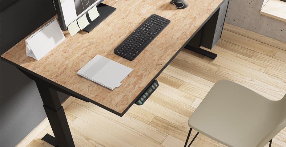 bureau réglable, high tech, hauteur, travail debout, design, moderne