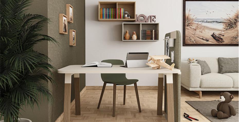 home office, cloison acoustique, anti bruit, coin travail a domicile