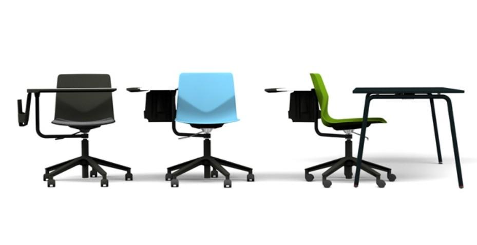 La chaise avec tablette écritoire TABI s'adapte à tous vos espaces de formation, réunion et pourquoi pas dans votre hall d'accueil