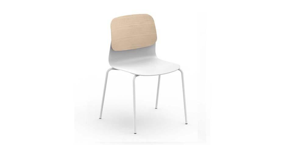 Chaise de réunion avec dossier bois