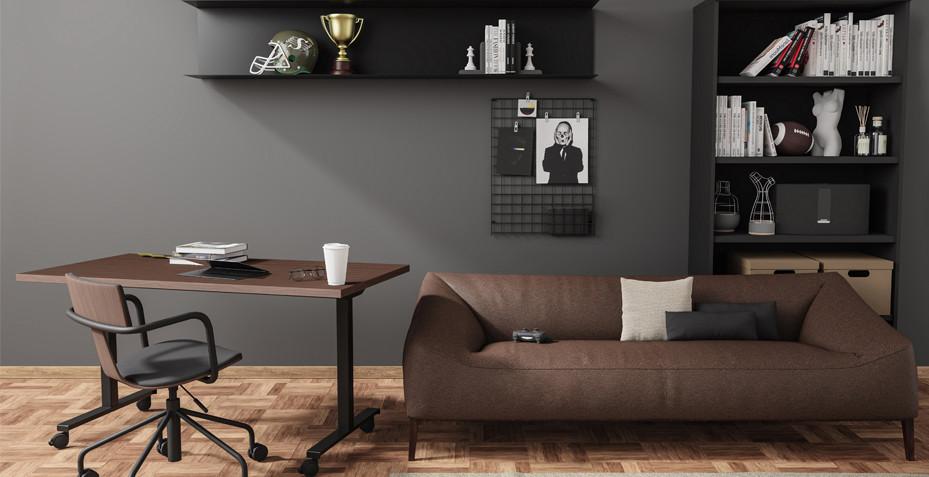 télétravail, ergonomie espace, bureau rabattable