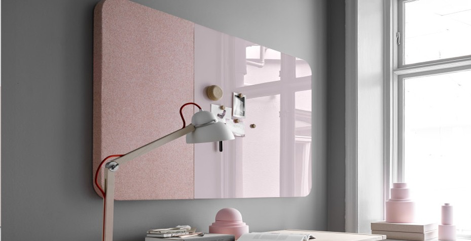 Découvrez notre tableau verre rose avec ses bords arrondis !