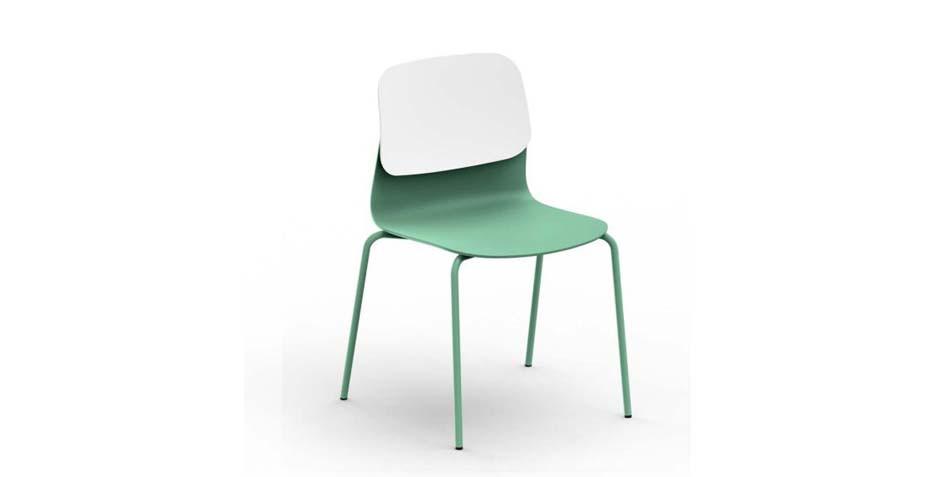 Chaise en polypropylène vert