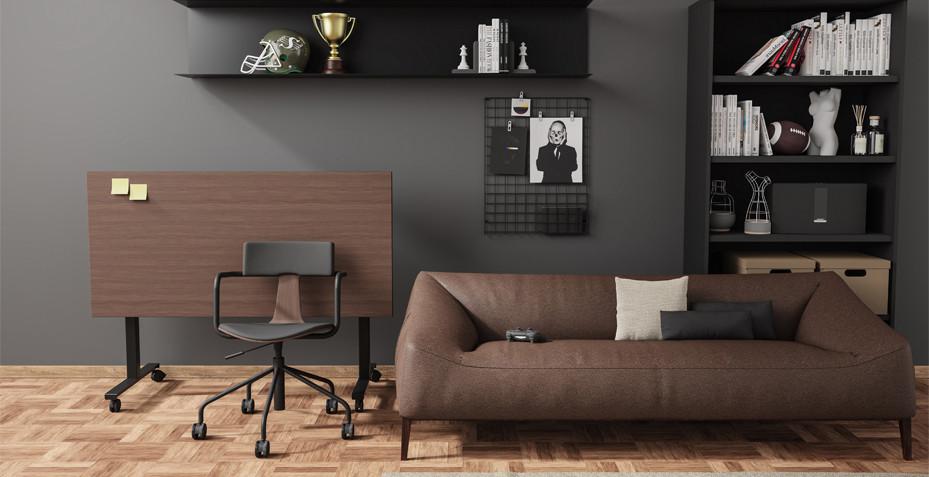 télétravail, ergonomie espace, table pliante, bureau rabattable